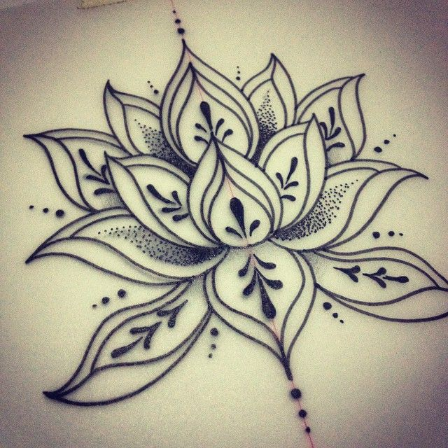 simple lotus design - Tattoo Design Ideas