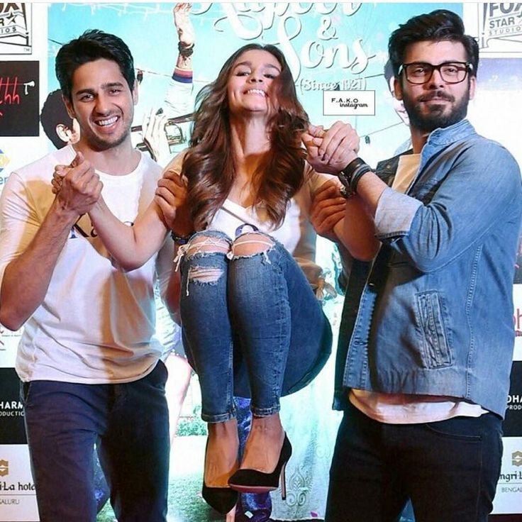 Siddharth Malhotra Fawad Khan and Alia Bhatt having Fun times During the…