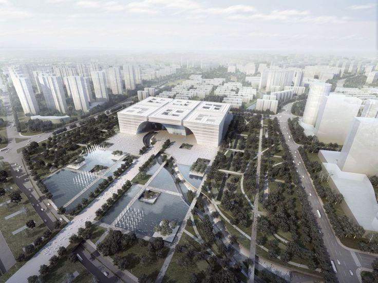 Galeria de 1° Lugar: Concurso Internacional Centro Cultural Changzhou / gmp…