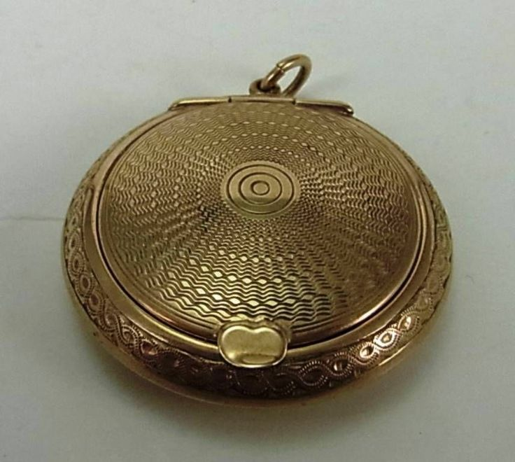 FINE 9CT GOLD VINTAGE LADIES COMPACT