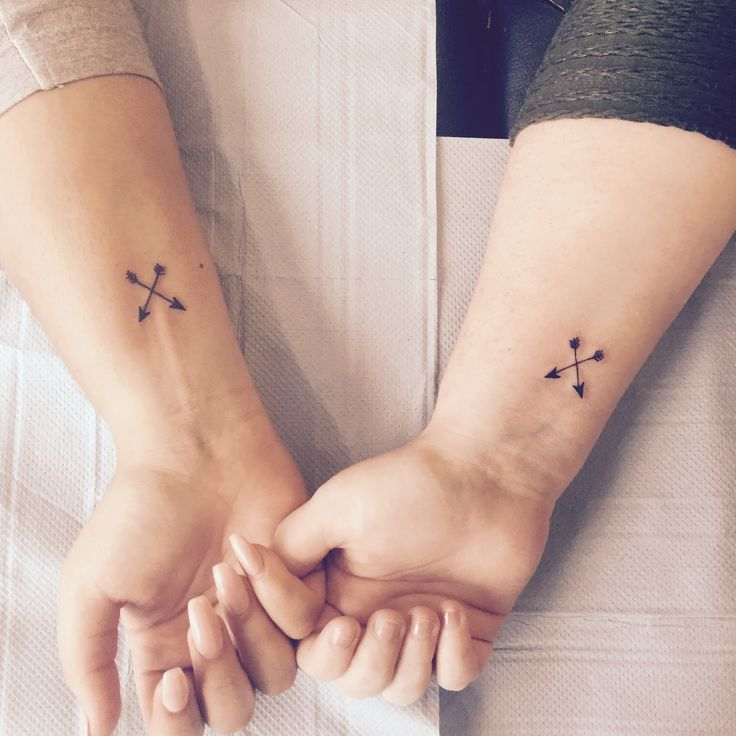 Too cute – besties tattoos BFF friendship goals Done today at Oxford Ink