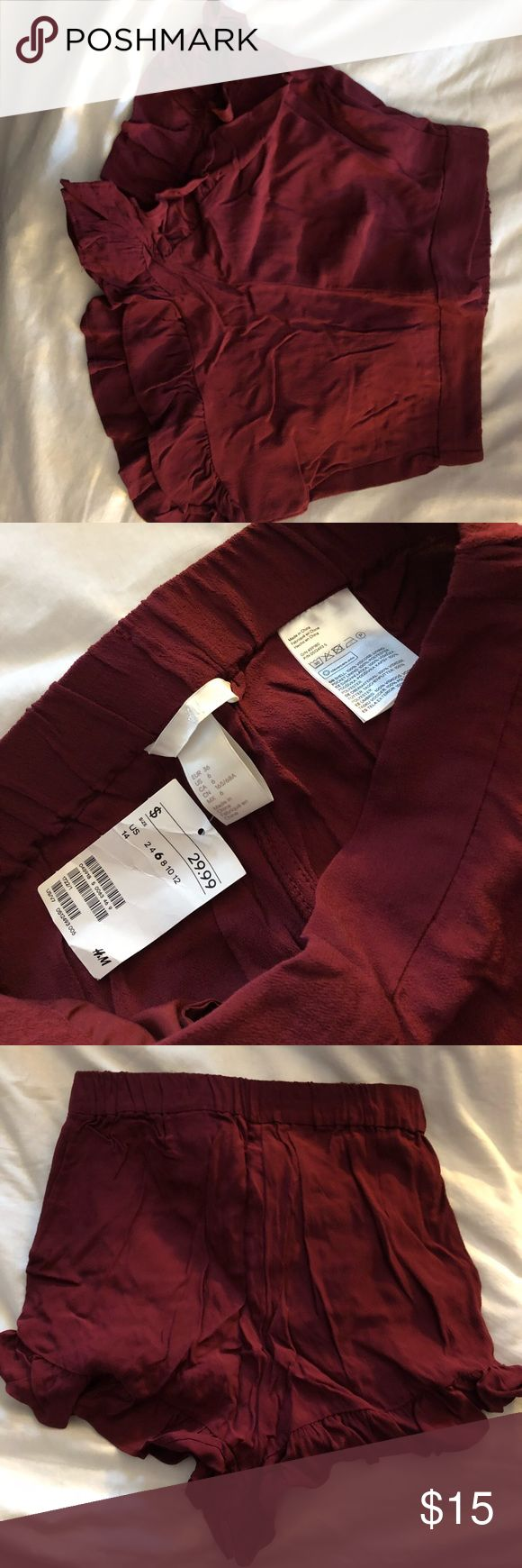 Maroon shorts H&M maroon shorts, never worn, run small, new with tags H&M Shorts