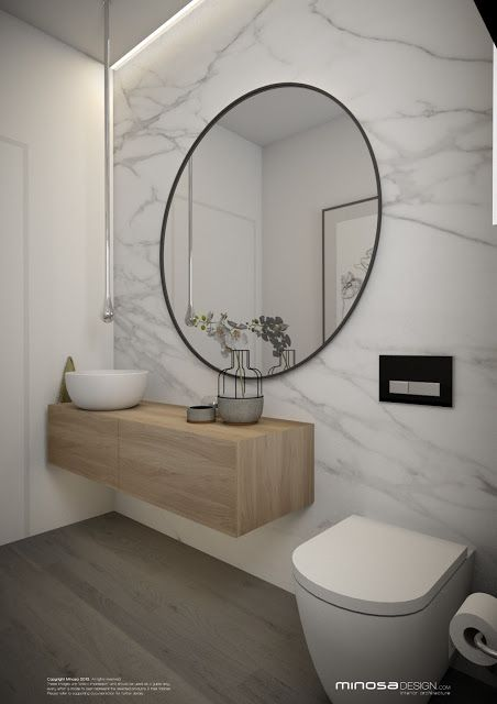 Minosa Design: Powder Room - Or maybe idea for den bath / office bath large…