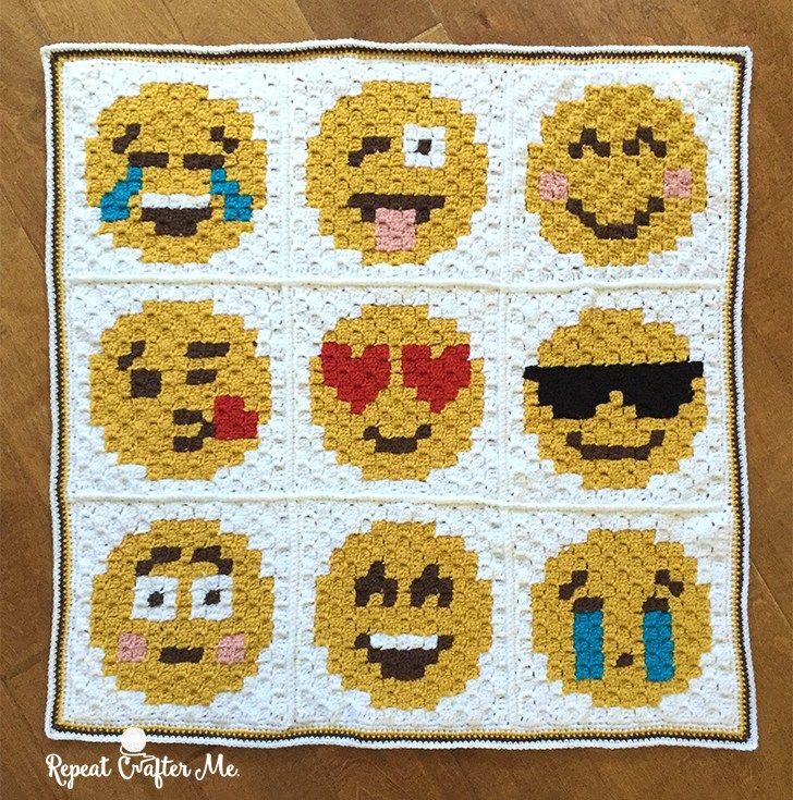 Crochet Emoji C2C Graphgan
