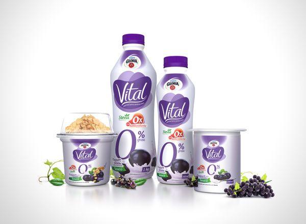 Yogurt Vital by David Gutiérrez, via Behance