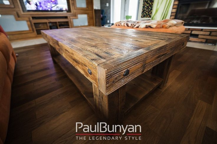 Coffee table made of old wood - model KD