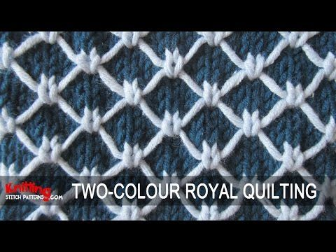 Two-colour Royal Quilting | Knitting Stitch Patterns