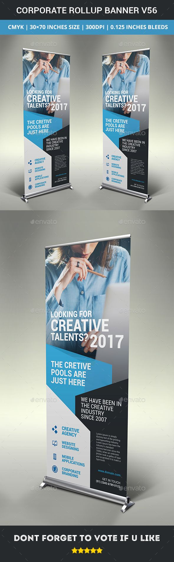 Poster design business - Corporate Business Rollup Banner Template Ai Illustrator Business Corporate