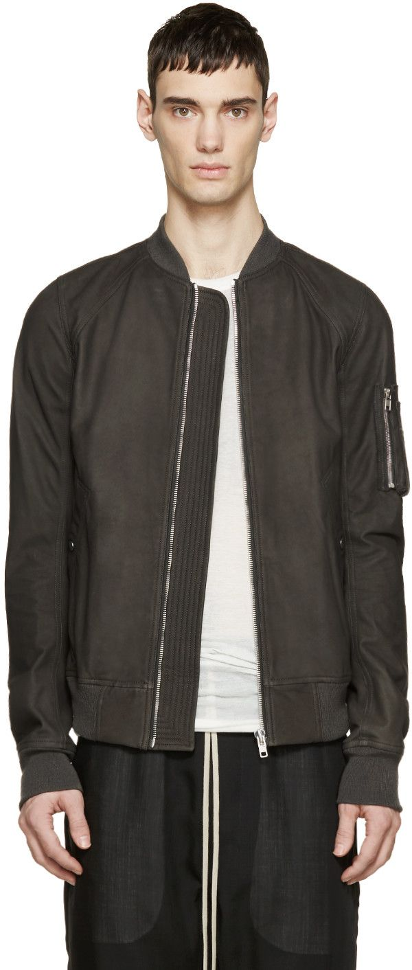 Black Lys Bomber Jacket | Grey, Bomber jackets and Grey leather