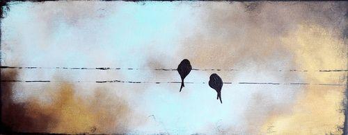 Autumn sky birds