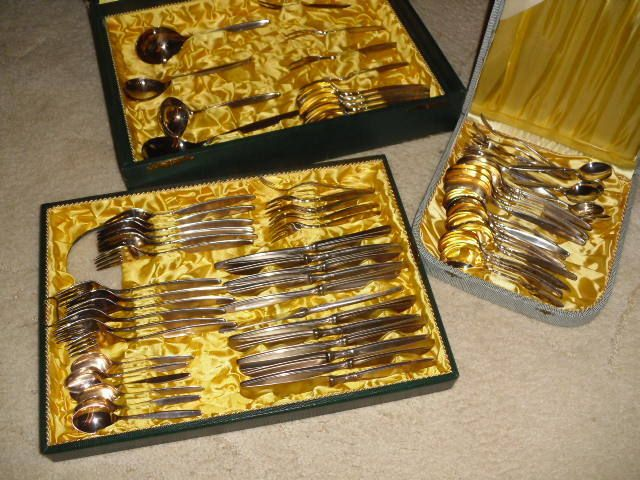 WMF Besteck - 90 er Silber - 80 Teile - für 12 Personen in Antiquitäten & Kunst, Silber, Silberauflage / Versilbertes | eBay!