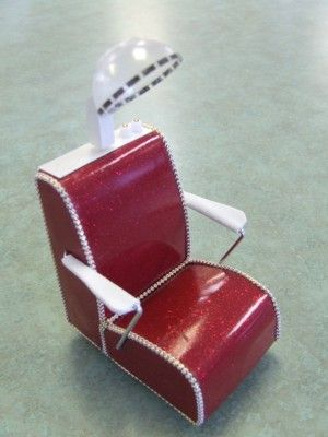 Beauty Salon Dryer Chair [TMW133] - $29.99 : Miniature Designs, Full Service Dollhouse Miniature Shop in Georgia