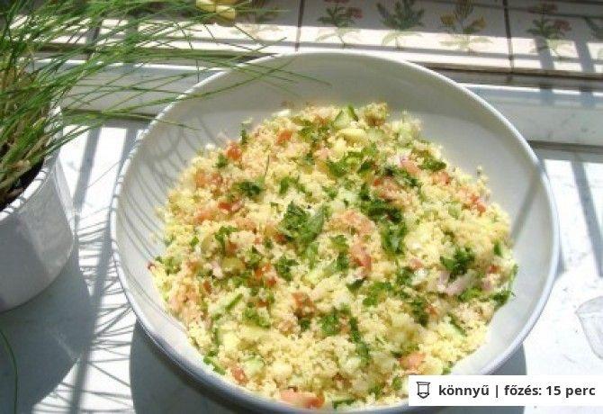 KUSZKUSZ saláta 2. - hús nélkül