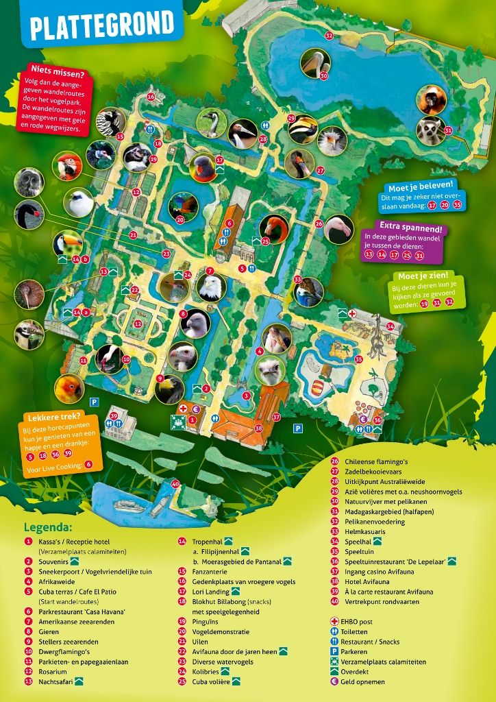 plattegrond kaarten en plattegronden parks
