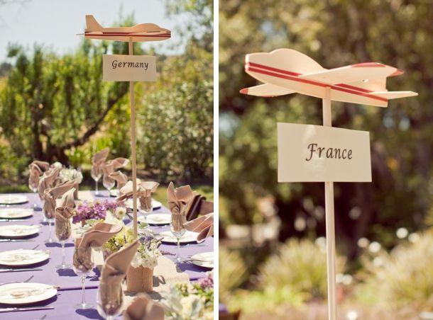 Credit: Carlie Statsky Photography via DIY Bride | Fresh Travel Themed Wedding Ideas #wedding