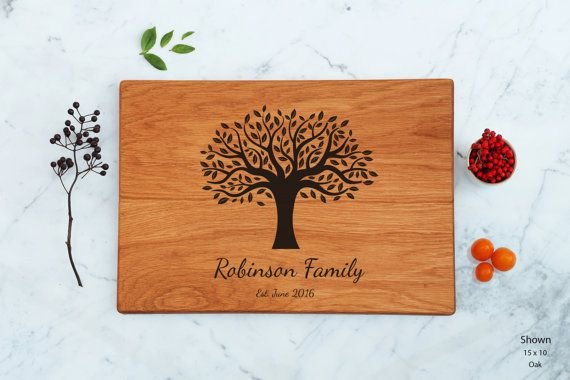 Personalized Family Tree Cutting Board Unique Wedding Present For Couples Best Anniversary Gift Parents Marriage Gift Engraved…