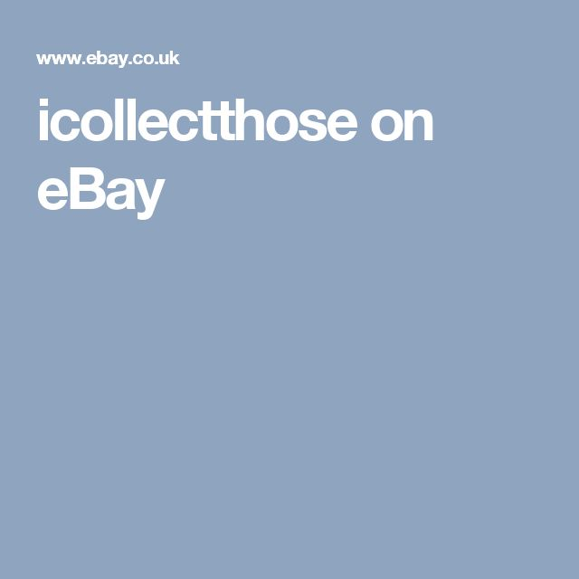 icollectthose on eBay