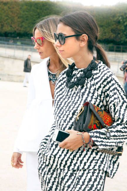 Fashionable friends in Paris #streetstyle