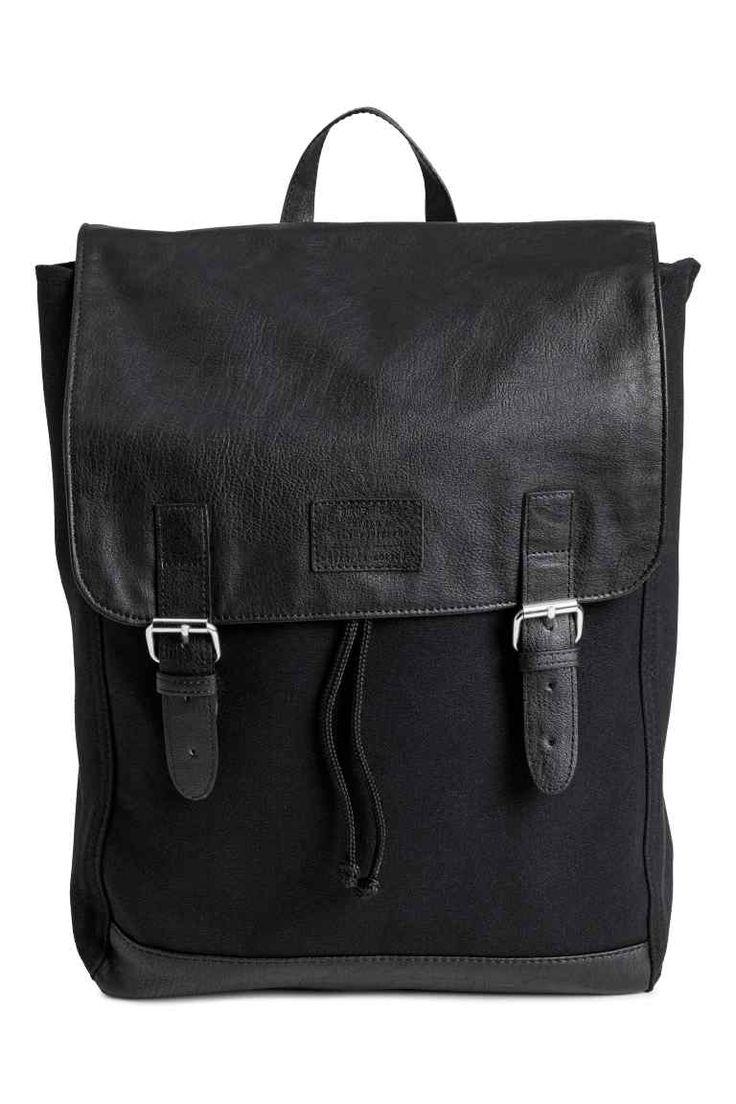 Pamutvászon hátizsák - Fekete - NŐI | H&M HU 1