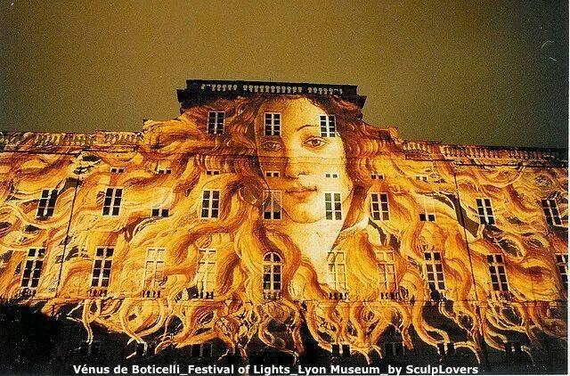 Venere del Botticelli - Festival delle Luci, Lione