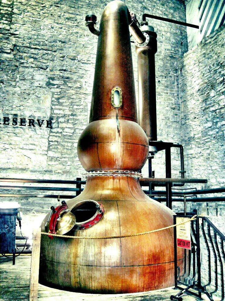 One of the only copper pot stills that's still used in distilling bourbon, Woodford Reserve, Versailles, Kentucky