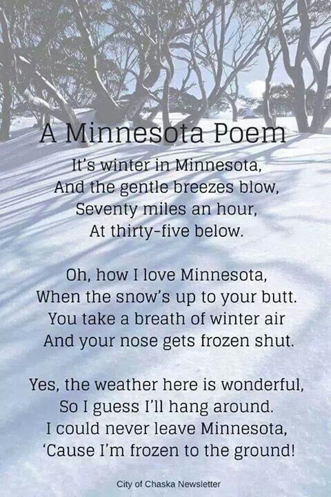Minnesota Winters! I do LOVE minnesota winters though...can't imagine ever living anywhere else!