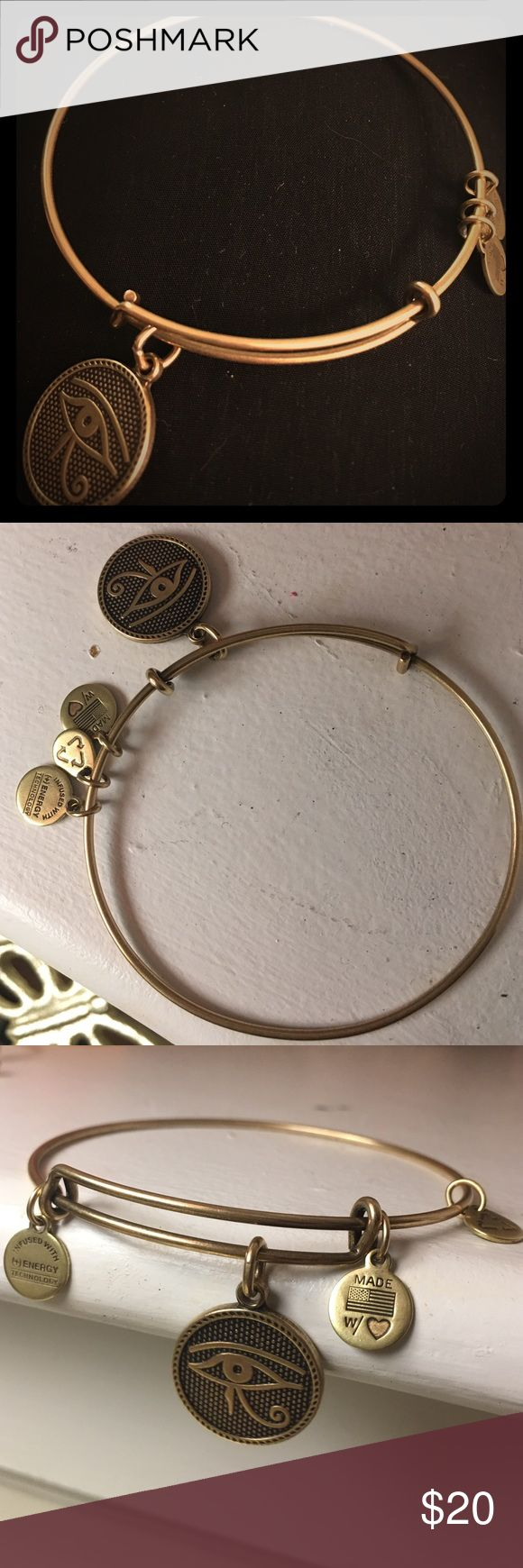 Alex & Ani EYE OF HORUS Russian Gold Charm Bangle Alex and Ani EYE OF HORUS Russian Gold Charm Bangle worn a few times in perfect condition Alex & Ani Jewelry Bracelets