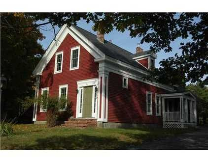 Red house green door houses pinterest home red - White house green trim ...