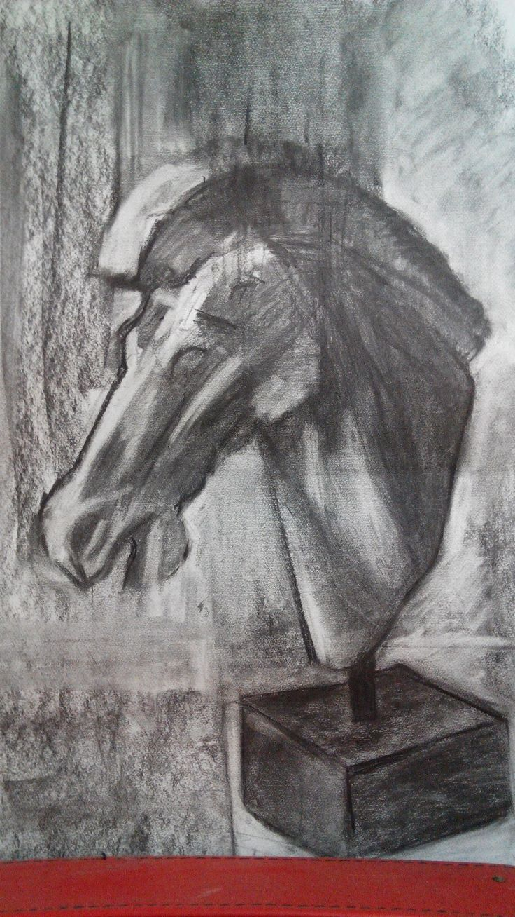 Drawing made with charcoal