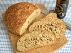 Niet kneden bierbrood voor de luie bakker, recept, no knead bread, makkelijk, gietijzeren pan, Dutch oven, braadpan, oven, bbq, bijgerecht, vaderdag, diner.