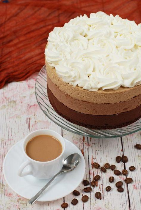 Kávés csokoládémousse-torta recept