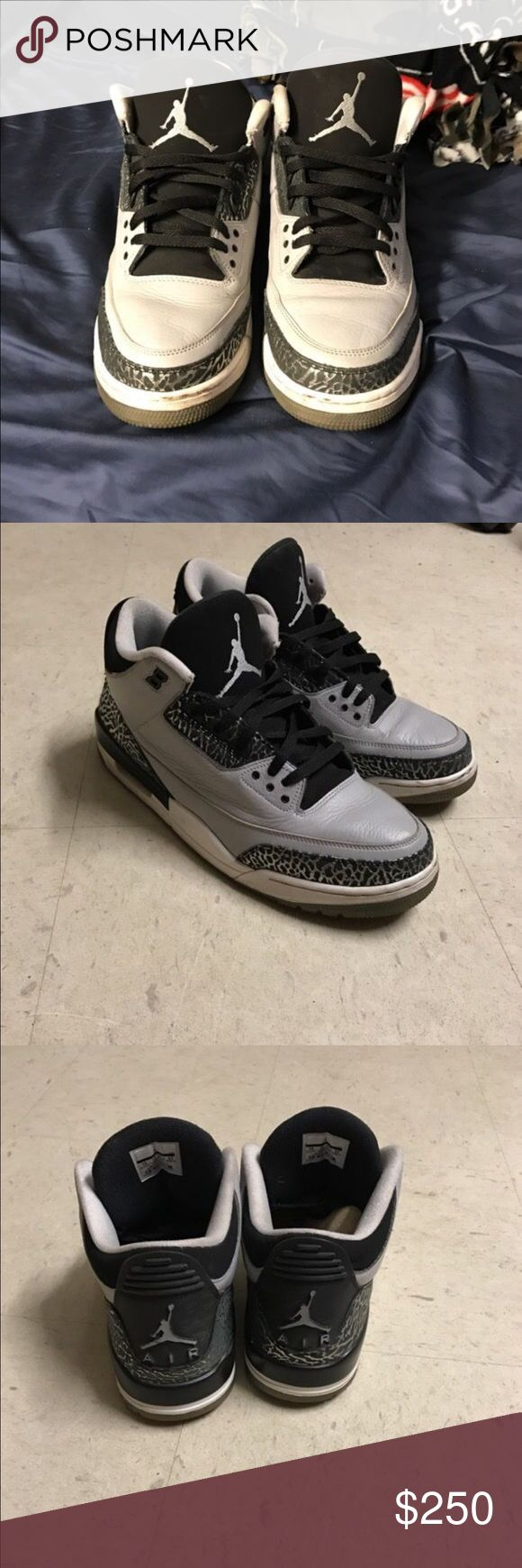 retro 3s retro 3s have regular wear and tear and i have the box negotiable