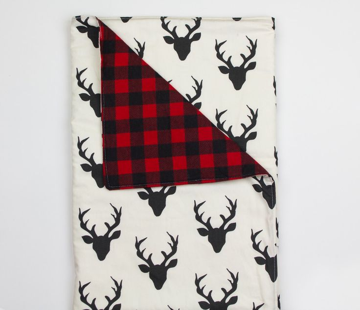 Baby blanket – Deer and buffalo plaid flannel – black, white, red, soft, cuddle, modern, handmade, unique, play mat by abbeyshousequilts on Etsy https://www.etsy.com/listing/263523147/baby-blanket-deer-and-buffalo-plaid