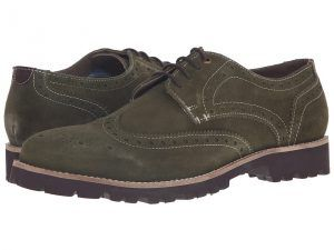 Lotus Evan (Green Suede) Men's Lace Up Wing Tip Shoes