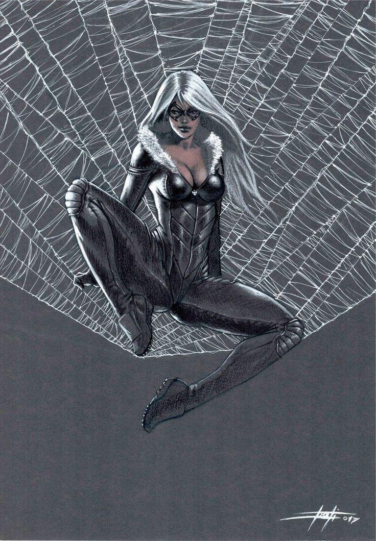 Black Cat on web by LucaStrati.deviantart.com on @DeviantArt - More at https://pinterest.com/supergirlsart #blackcat #marvel #art