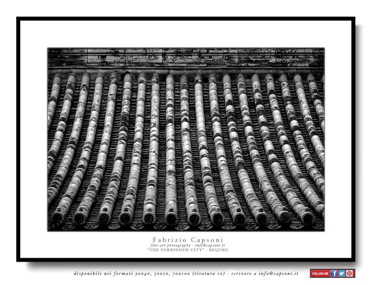 """The forbidden city"" Beijing ©2008 FABRIZIO CAPSONI - Fine Art Giclée Print on cotton paper - Limited edition - #fotografia #fineart #art #Interiors #homedecor"