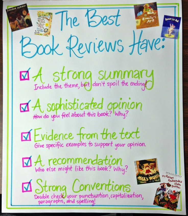 Charted rubric for book reviews