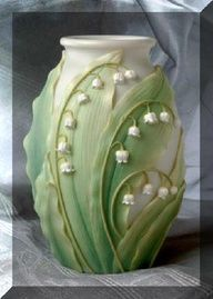 beautiful Lilly of the valley art nouveau style vase
