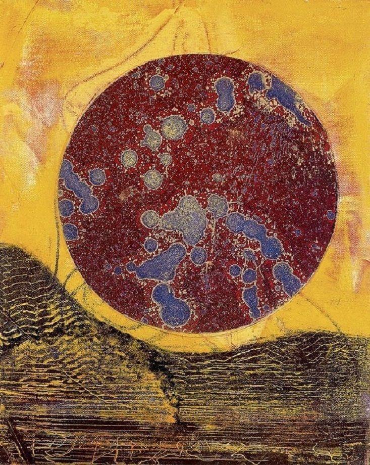Max Ernst (German, 1891-1976), Rien ne va plus, 1973. Oil and collage on canvas.