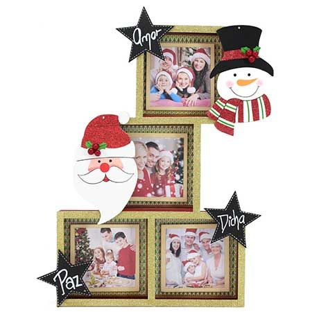 Proyectos |Porta retrato familiar navideño