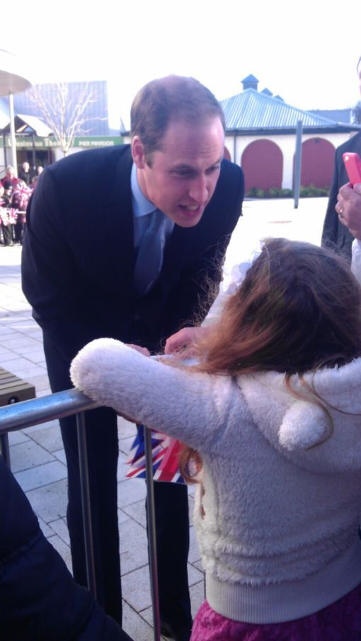 Prince William greets crowds at Haven Point leisure centre, South Shields