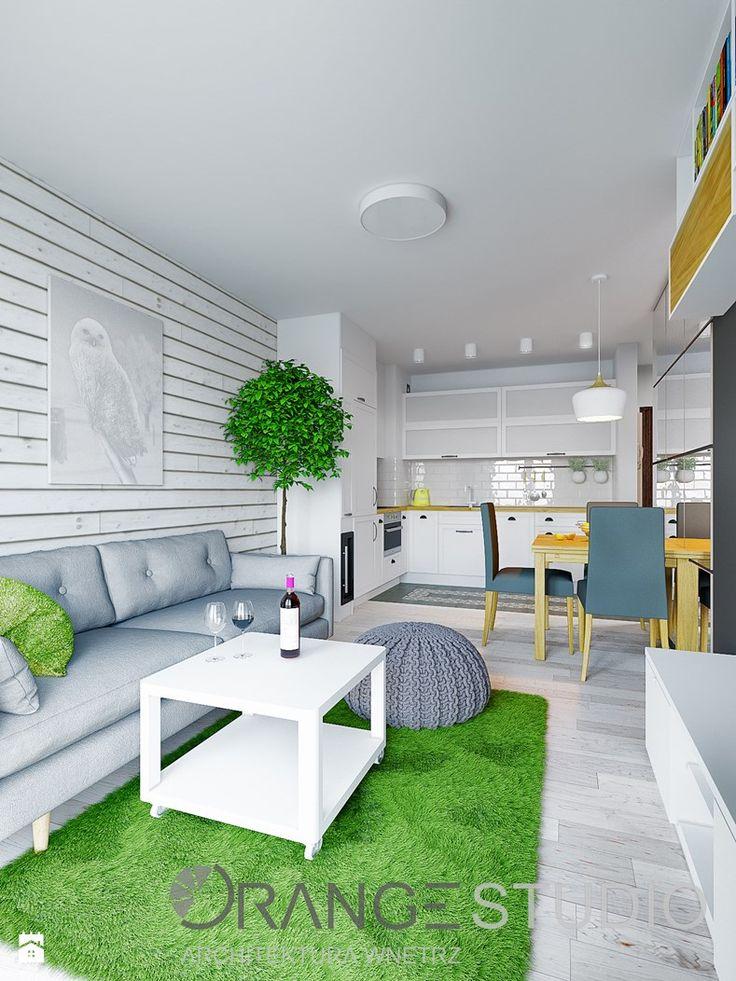 Wielofunkcujna przestrzeń dzienna - zdjęcie od ORANGESTUDIO - Salon - Styl Skandynawski - ORANGESTUDIO