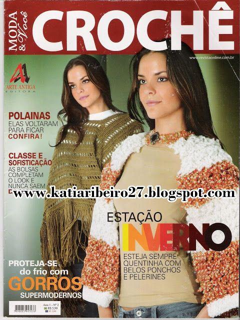 Revistas Completas - Gorros, polainas, bolsas, carteiras em crochê - Katia Ribeiro Crochê Moda e Decoração