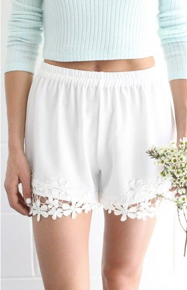 Flora Shorts White
