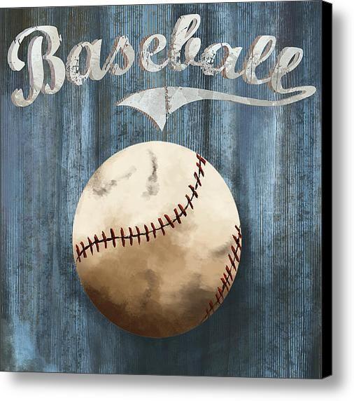 Baseball Canvas Print / Canvas Art By Mariana Maia
