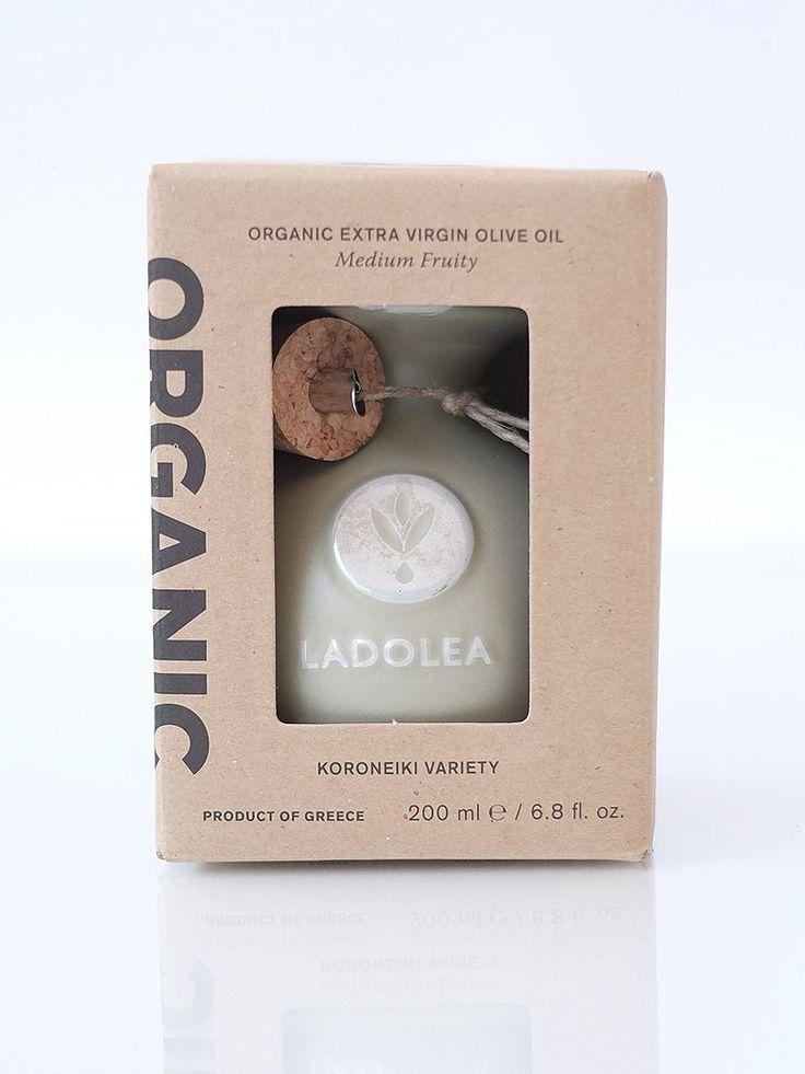 LADOLEA Organic Extra Virgin Olive Oil - Medium Fruity - Koroneiki Variety (green pot) 200ml