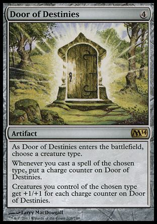 Magic the Gathering Card Reviews: Door of Destinies from Magic 2014 Core Set - #Bubblews #mtg
