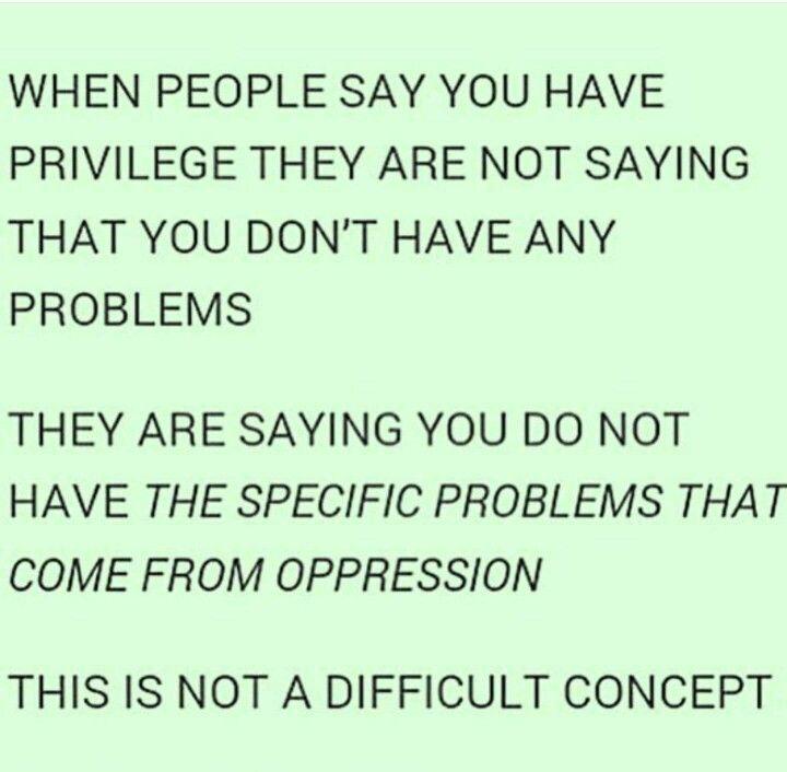 Understanding your privilege