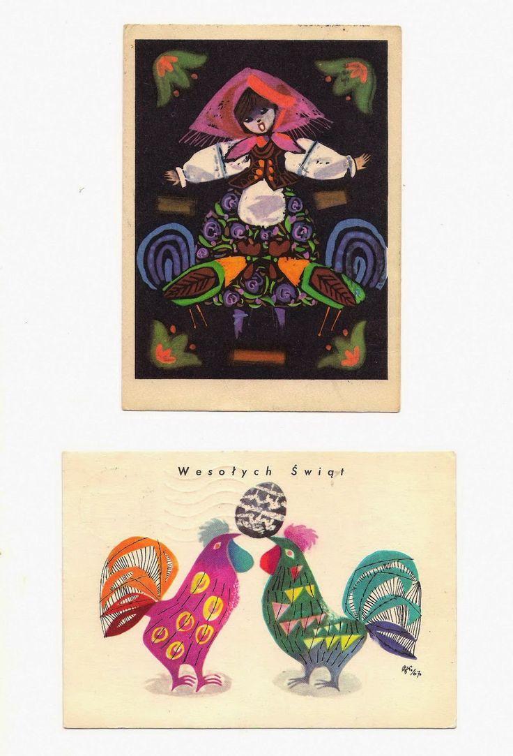 vintage Polish postcards – Zbigniew Rychlicki Czesław Wielhorski