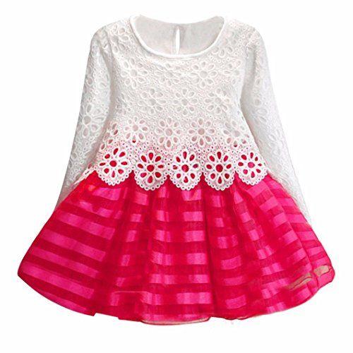 Amlaiworld Robe de fille, filles creux fleur longue manche princesse robe #Amlaiworld #Robe #fille, #filles #creux #fleur #longue #manche #princesse #robe
